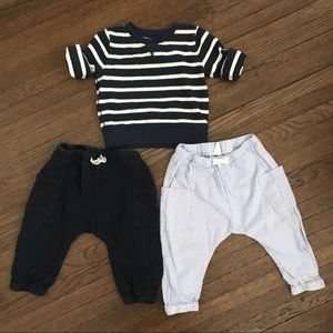Boys Pants & Nautical Sweater Bundle